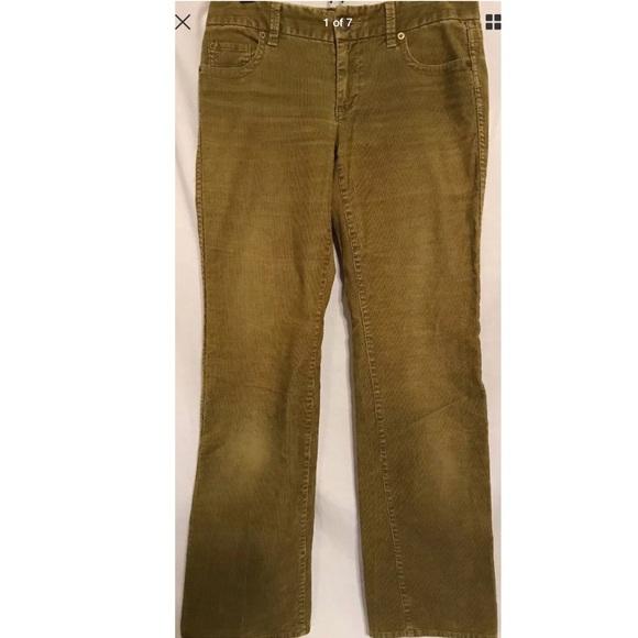 3e0647e51aa J. Crew Pants | J Crew Favorite Fit Stretch Vtg Green Cord Sz Os ...